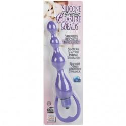Silicone Vibrating Pleasure Beads - Purple