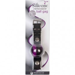 Spartacus Silicone Removable Ball Gag 2in. (Swirl)