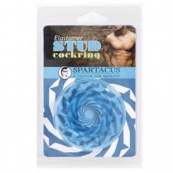 Stud Elastomer Cock Ring (Blue)