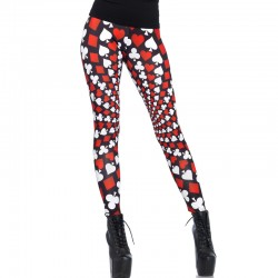 Totally Trippy Psychadelic Card Print Leggings Medium Multicolor