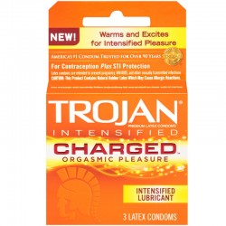 Trojan Charged w/Intensified Lubricant Condoms (3 pack)
