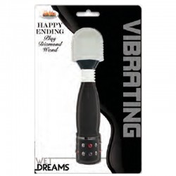 Wet Dreams Happy Ending Diamond Wand-Black
