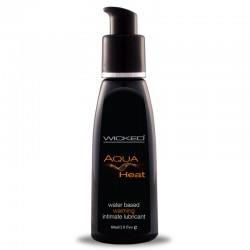 Wicked Aqua heat Waterbased Lubricant 2 Oz (warming Lube) product detail shot.