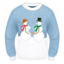 Xmas Sweater Snow Couple L/XL
