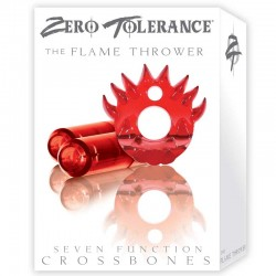 ZT Flame Thrower - Double Bullet Clear Red Cock Ring / 2 Clear Red Bullets