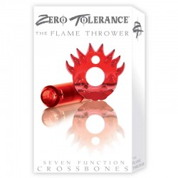 ZT Flame Thrower - Single Bullet Clear Red Cock Ring / 1 Clear Red Bullet
