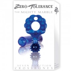 ZT Mighty Marble - Single Bullet Clear Blue Cock Ring / 1 Clear Blue Bullet