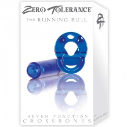 ZT Running Bull - Single Bullet Clear Blue Cock Ring / 1 Clear Blue Bullet