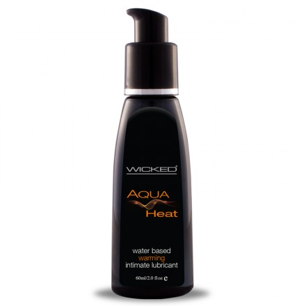 Wicked Aqua Heat Waterbased Lubricant 2 Oz (Warming Lube)