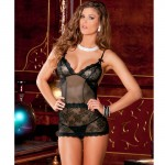 2pc Sophisticated Lace Chemise & G-string Set M/L