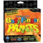 Adult Glow-In-The-Dark Body Finger Paints Box