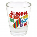 Alcohol Brings Out The Gay In Me Shot Glass 3pk
