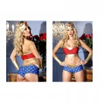 BeWicked Heavenly Heroine 4pc S/M Headpiece, Tube Top, Bottom, Wrist Cuffs