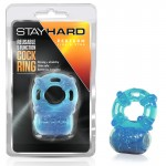 Blush Stay Hard 5 Function Cockring (Blue)