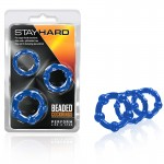 Blush Stay Hard Beaded Cock Rings (Blue)
