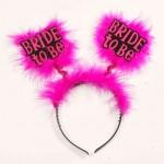 Bride To Be Headband-Blk/Pink