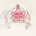 Bride To Be Star Tiara-Wht/Pink