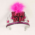 Bride To Be Tiara-Blk/Pink