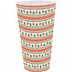 Christmas Tree & Reindeer Christmas Plastic Cup