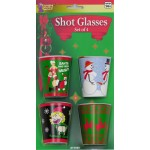 Christmas X-Rated Shot Glasses Set of 4