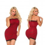 Cocolicious Hot Coco Seamless Tube Dress Red O/S