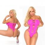 Cocolicious Maja Flava Seamless Bodysuit Pink O/S