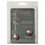 Crazy Girl Wanna be Excited, Pure Silver Plated Pleasure Balls w/Keepsake Bag, Clamshell
