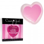 Crazy Girl Wanna Be Pampered Warming Heart Body Massager, 5in., Pink, Boxed