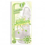 Crystal Jellies - Ballsy Cock With Suction Cup Clear 6in