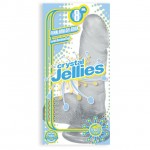 Crystal Jellies - Ballsy Cock With Suction Cup Clear 8in
