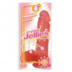 Crystal Jellies - Ballsy Cock With Suction Cup Pink 8in