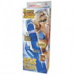 Deep Stroker Rabbit Vibe with Clit Stimulator (Purple)