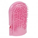 Deluxe Pleasure Massage Mitt Pink Soft Rubber Bulk, Polybag