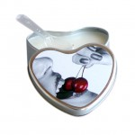 Earthly Body Cherry Flavored Edible Massage Candle in 4oz Heart Shaped Tin