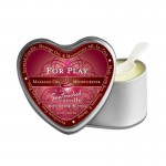 Earthly Body Massage Candle For Play 4.7oz in Heart Shaped Tin