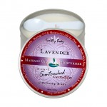 Earthly Body Massage Candle Lavender 6.8oz