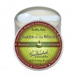 Earthly Body Massage Candle Naked In the Woods 6.8oz
