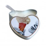 Earthly Body Vanilla Flavored Edible Massage Candle in 4oz Heart Shaped Tin