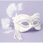 Fantasy Half Mask-White
