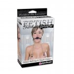 Fetish Fantasy Extreme Deluxe Ball Gag and Nipple Clamps Black