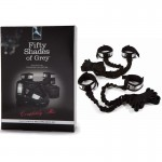 Fifty Shades Completely His Bed Spreader with Bungee Straps-Silver