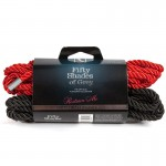 Fifty Shades of Grey Restrain Me Bondage Rope Twin Pack (1 Red/ 1 Black)