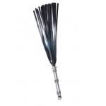 full view of the natural steel hydra high strength silicone flogger