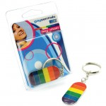 Gaysentials Metal Rainbow Flag Key Chain