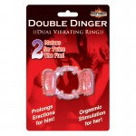 Humm Dinger Double Dinger Cockring (Magenta)