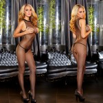 Hustler Crotchless Halter Neck Bodystocking