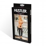 Hustler Footless Sheer Thigh High Black