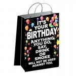 Its Your Birthday Anything You Do Gift Bag