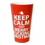 Keep Calm And Merry Fucking Christmas Plastic Cup