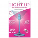 Light Up Martini Weenie Glass-Blue